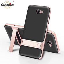 3D Kickstand Telefoon Back Cover voor Samsung J7 Prime Case Cover TPU + PC Siliconen Hybrid Carcasas SamsungJ7Prime J7Prime Nxt prime2