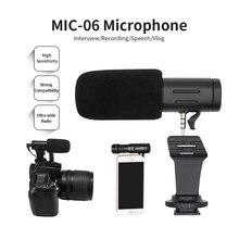 Aufnahme Mikrofon 3,5mm Audio Stecker Kamera Mikrofon Tragbare Video Interview Mikrofon für Smartphone Kamera