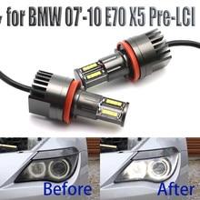 160W Bright White Color LED Angel Eye Halo Light H8 No Error for BMW 2007 2010 X Series E70 X5 (Pre LCI)