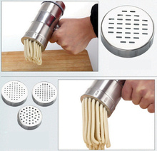 3 year warranty Stainless steel Manual Noodle Maker Press Pasta Machine Crank Cutter Juicer Cookware Kitchen tool spaghetti stainless steel manual noodle press household pasta making machine dough roller spaghetti cutter 3 blades