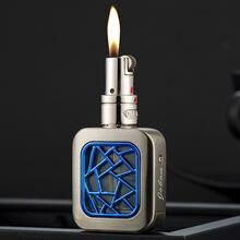 Творческий Бесплатная огонь газ бутан jet зажигалка шлифовальный