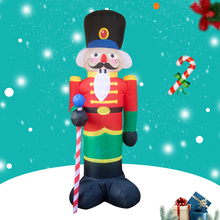 Christmas Inflatable Outdoor Nutcracker Led-Light Soldier Doll Up-Decor Holiday-Decoration
