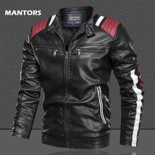Autumn Winter Leather Jacket Men 2019 PU jacket Coats Street Slim Fit Bomber Jacket Casual Mens fleece warm coat drop shipping