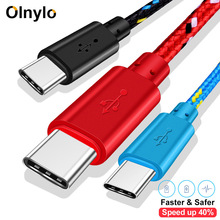 Olnylo usbタイプcケーブル高速のデータ充電ケーブルS10 S9注9 oneplus 7 xiaomi huawei社電話タイプc usb cケーブル