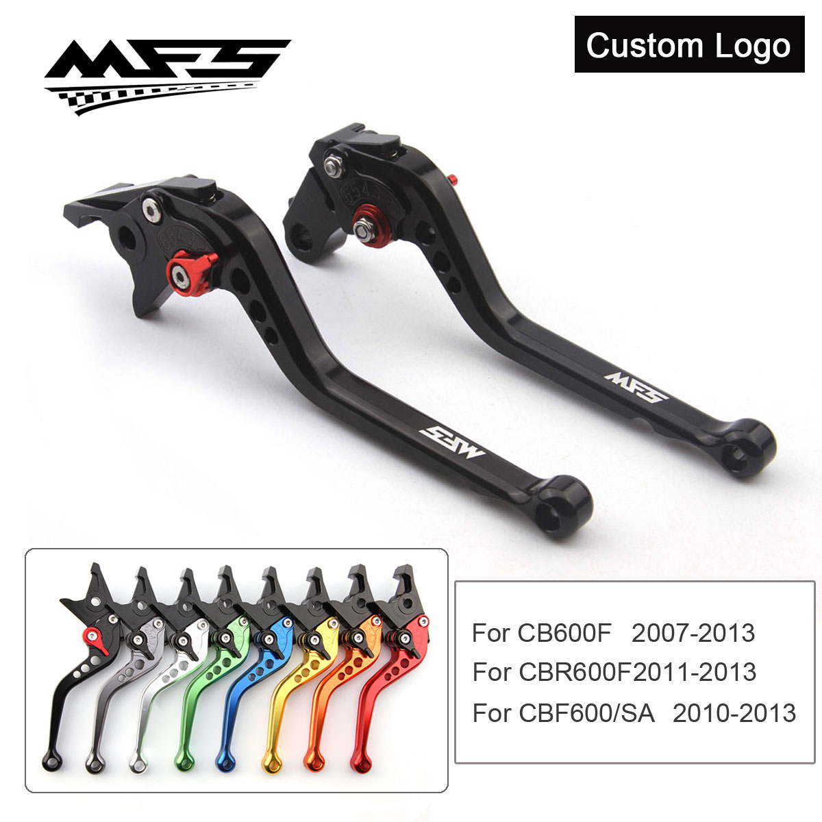 CNC Brake Clutch Levers Handle For Honda CB600F 2007 2013 CBR600F CBF600 SA 2010 2013 Motorcycle Brake Levers in Levers Ropes Cables from Automobiles Motorcycles