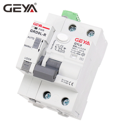 GEYA GRD9L 6KA ELCB RCCB Automatic Reclosing Device with RS485 Function Remote Control Circuit Breaker 2P 40A 63A 30mA RCD