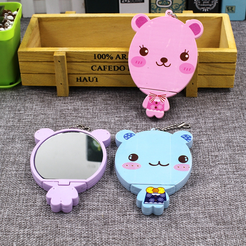 Baby Comb Mirror Set Girl Boy Portable Cartoon Cute Makeup Mirror Comb Set Head Massager Comb Sets Baby Hair Care Accessories