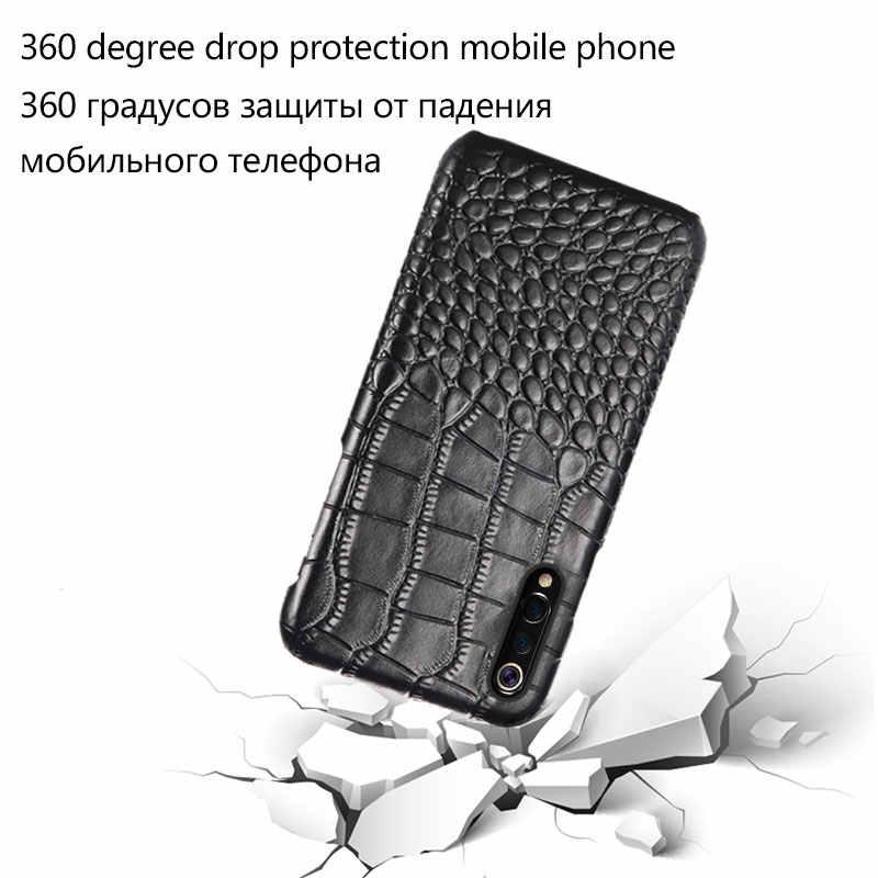 Echt Leer case voor Redmi note 8 8 pro note4X Mix2 Max3 Pocophone F1Luxury fall bescherming cover voor xiaomi 9 8 K20 20 Pro