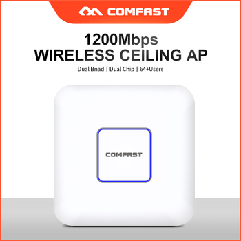 цена на COMFAST 1200Mbps DUAL band Wifi access point Networking router 802.11ac/b/g/n Indoor Ceiling wireless AP Wi fi Router 48 POE AP