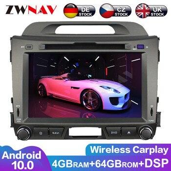 PX6 DSP Android 10,0 auto Radio Multimedia reproductor de vídeo DVD GPS para KIA Sportage 2010-2016 GPS para coche Navi Audio estéreo BT unidad de cabeza