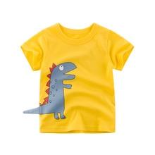Boys & Girls Cartoon T-shirts Kids Dinosaur Print T Shirt For Boys Children Summer Short Sleeve T-shirt Cotton Tops Clothing все цены