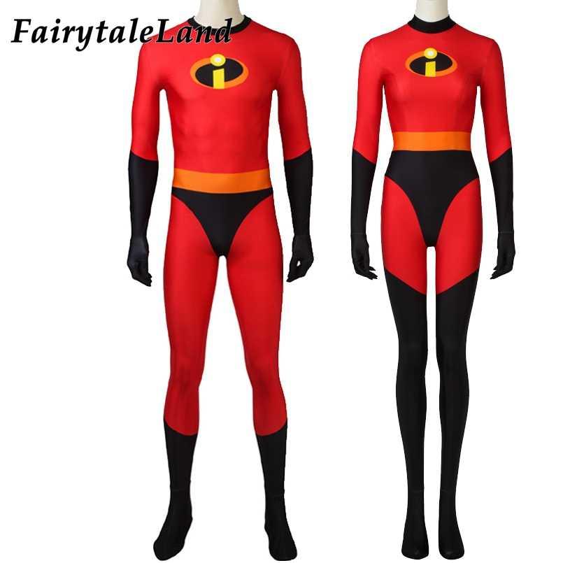 סופר 2 מר ייאמן Elastigirl תלבושות Superhero סרבל קרנבל ליל כל הקדושים קוספליי בוב פאר הלן פאר תלבושת