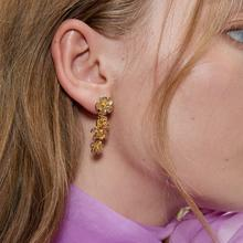 Fashion Geometric Long Drop Earrings Women Wedding Vintage Flower Gold Color Punk Statment Earrings punk style geometric chain drop earrings