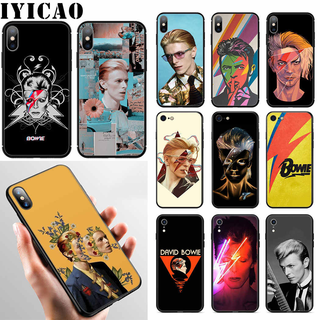 David Bowie Cool Soft Silicone Phone Case for iPhone 11 Pro Max XR X XS Max 6 6S 7 8 Plus 5 5S SE Case