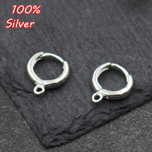 1pair 10mm/12mm 925 Sterling Silver Color DIY Ear Hook Fitti
