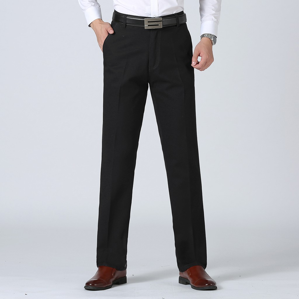 Men's Suit Pants New Style Business Plain Color Casual Slim Fit Trousers Large Comfortable Pant Large Size Straight Pants#G2