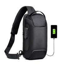 Yeni çok fonksiyonlu Crossbody çanta erkekler için Anti-theft omuz askılı postacı çantaları erkek su geçirmez kısa seyahat göğüs çantası erkek çantası