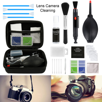 цена на 46pcs/set Cleaning Kit Sensor DSLR Lens Digital Camera Cleaner Kit DKL-20 for Sony Fujifilm Nikon Canon SLR Cameras Clean Set