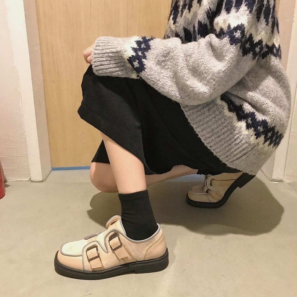 2020 spring and autumn new comfortable low-top wear-resistant casual shoes lazy shoes fashion wild peas shoes female X102