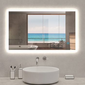 Modern Led Bathroom Mirror With Light Anti-fog Wall Upright Or Horizontal