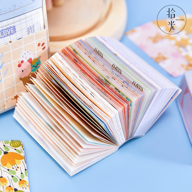 200sheets Kawaii Stationery Stickers Blooming ins fresh DIY Craft Scrapbooking Album Junk Journal Happy Planner Diary Stickers
