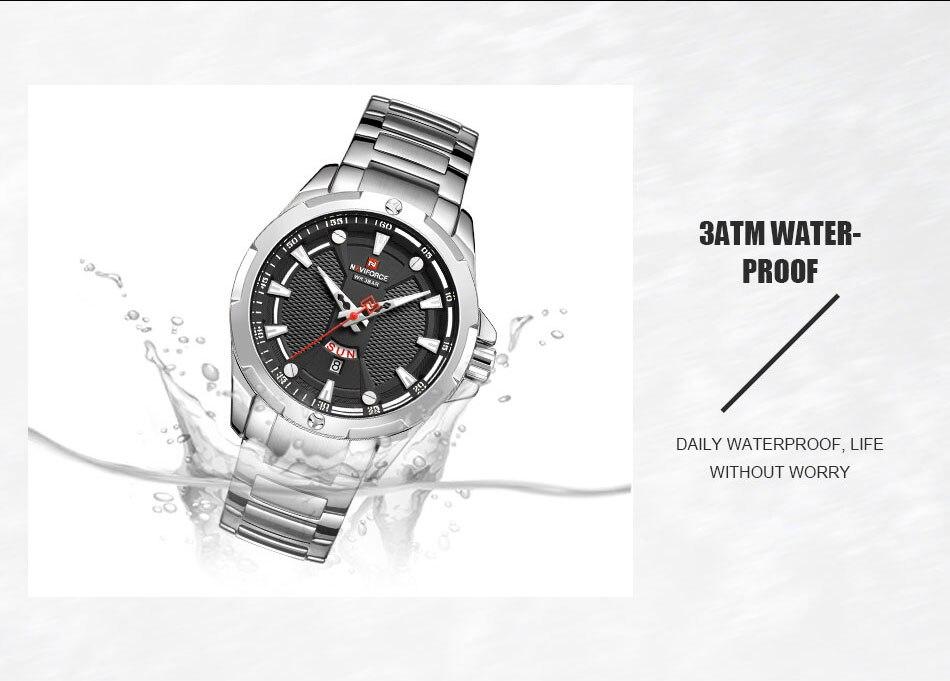 Hfb38231498f447929e6d4b43d2bd0b52K Men's Watches Top Luxury Brand NAVIFORCE Analog Watch Men Stainless Steel Waterproof Quartz Wristwatch Date Relogio Masculino
