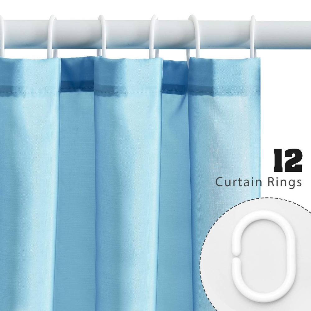 ufriday solid light blue shower curtain polyester waterproof fabric bath curtain elegant bathroom curtain for home hotel decor