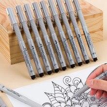 Faber-castell – stylo noir à pointe Fine, marqueurs de croquis pour croquis, fournitures artistiques pour artistes