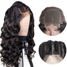 Superfect бразильский парик 4*4 свободная глубокая волна Кружева Закрытие парик швейцарская кружевная застежка человеческие волосы парики с детскими волосами Remy парик шнурка