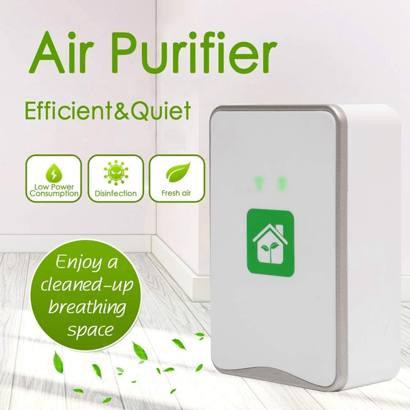 Pluggable Air Purifier Negative Ion Generator Filterless Ionizer Purifier Clean Allergens,Pollutants,Mold,Odors-EU Plug