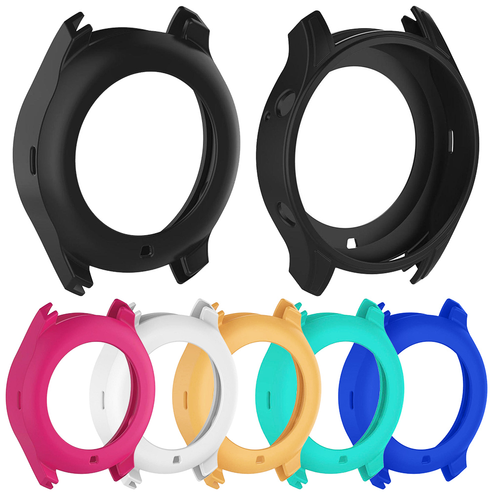 Soft Thin Silicone Protect Case for Samsung Galaxy Watch 46mm/42mm/Gear S3 Cover Light Bumper Accessories Fashion Color Frame