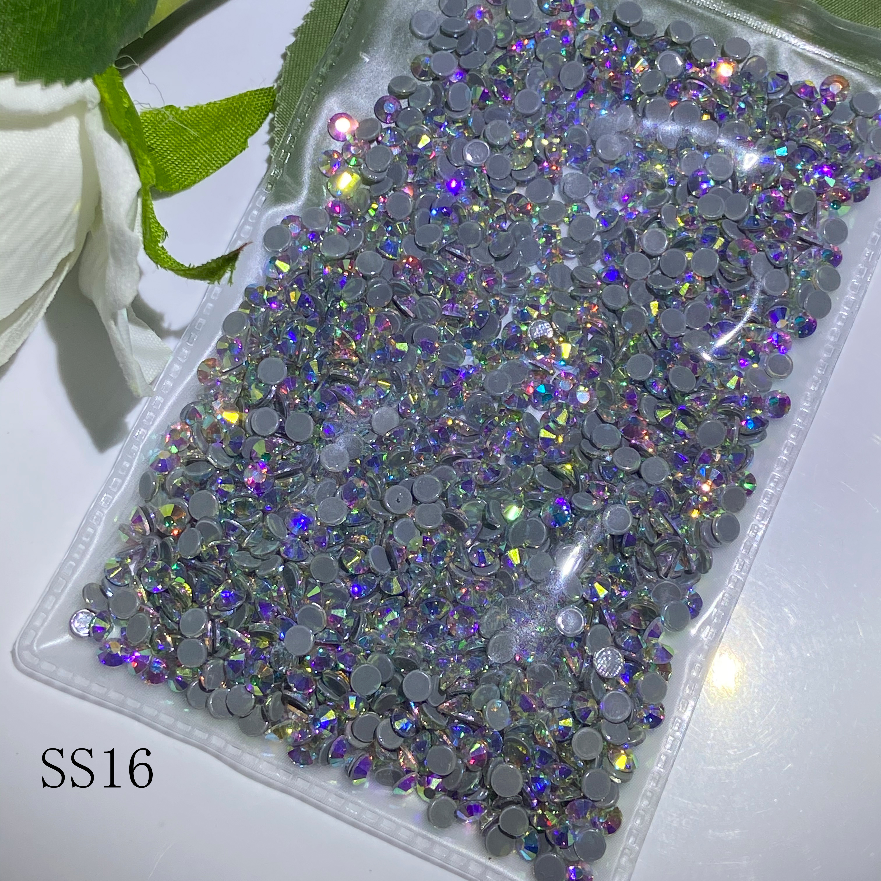 10 bags AB Color SS16 1440pcs/bag DMC Hot Fix Rhinestone Crystal Flatback Loose Strass Rhinestone for clothes bags accessaries