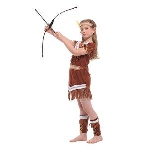Image 2 - Disfraz de princesa india para niños, disfraz de arquero nativo, para Halloween, carnaval, fiesta
