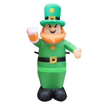 Saint Patrick's Day Inflatable Luminous Inflatable Model Blow Up Leprechaun Irish Oktoberfest Luckly Clover Garden Decoration 1