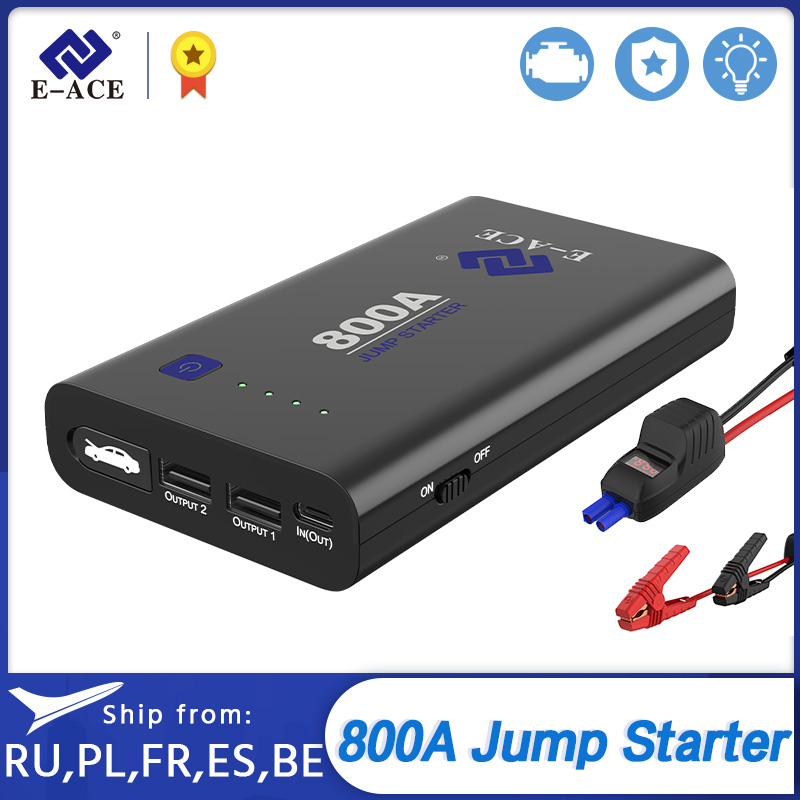 E-ACE Car <font><b>Jump</b></font> <font><b>Starter</b></font> Power Bank <font><b>800A</b></font> 12V Car Battery Charger Booster Battery Starting Device Car Emergency Powerbank image