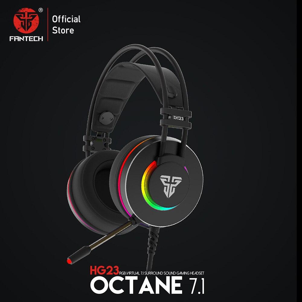 FANTECH HG23 casque personnaliser avec Octane 7.1 RGB USB juste filaire casque de jeu alliage cache-oreilles pour PC PS4 casque de jeu