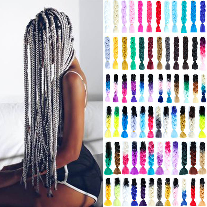 MSTN Long Ombre Synthetic Woven Crochet Hair Yellow Pink Purple Gray Hair Extension Oversized Tweezers Headwear