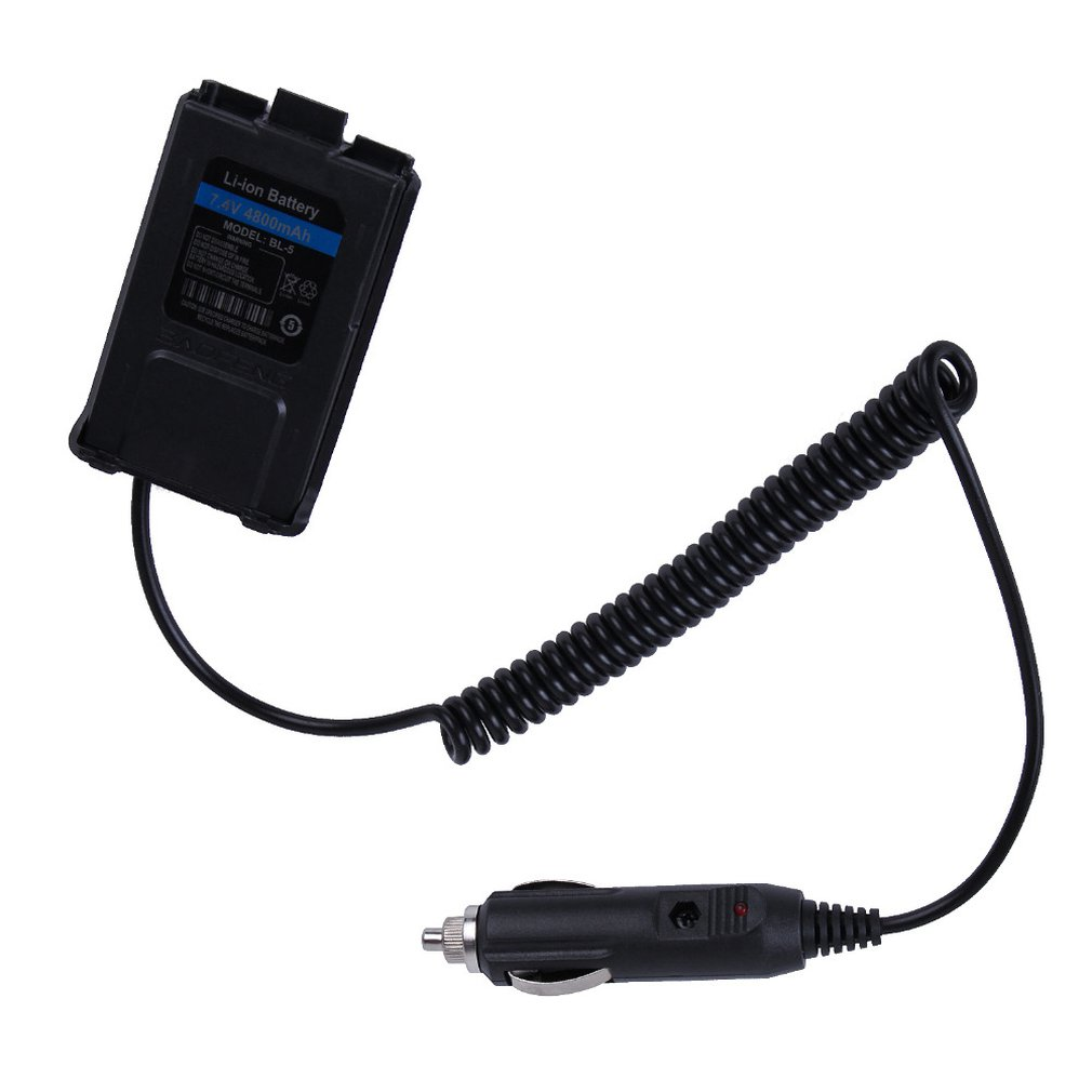 Portable Size UV-5R 12V Car Charger Battery Eliminator Adapter For Walkie Talkie UV5R UV-5RE UV-8HX UV-5RA UV-5RC