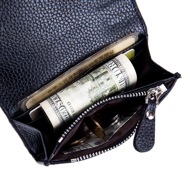 Genuine Leather Simple Wallet  3