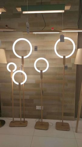 lampada de assoalho madeira nordic led