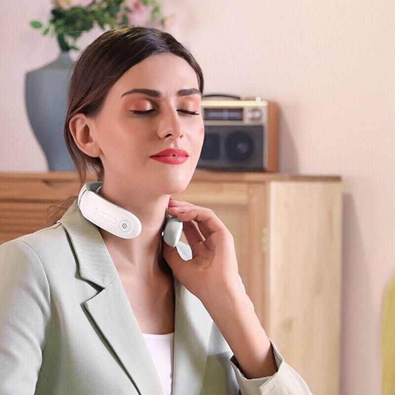 per Ufficio//Casa//Viaggi SKG Neck Massager Cordless con Trasmissione di Calore e Voce Massaggiatore Collo Regolabile per Uomo e Donna Massaggiatore Cervicale Inglese