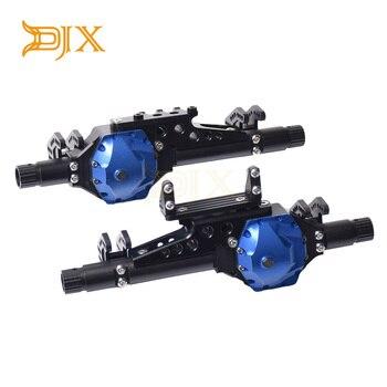 DJX CNC Metal delantero y trasero Axles Kit de carcasa para 1/10 RC orugas Axial wraw 2,2 & mr10 bombardero 4WD