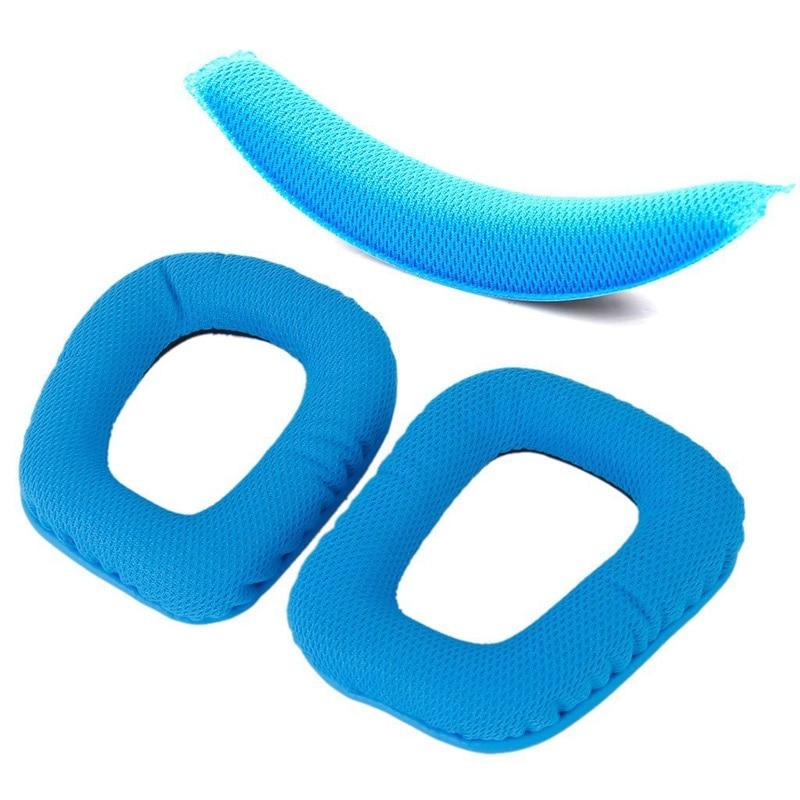 Blue Replacement Headband Cushion Pad Headband Pads Earpad For Logitech G430 G930