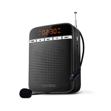 Multifunctionele Megafoon Wired Mic Bluetooth Fm Radio Opname Leraar Draagbare Voice Versterker