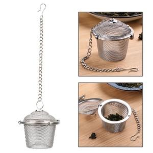 Image 4 - Colador de té de acero inoxidable con bloqueo, Infusor de té, Bola de té de malla, condimento, hierbas, especias, bola, colador, accesorios de cocina