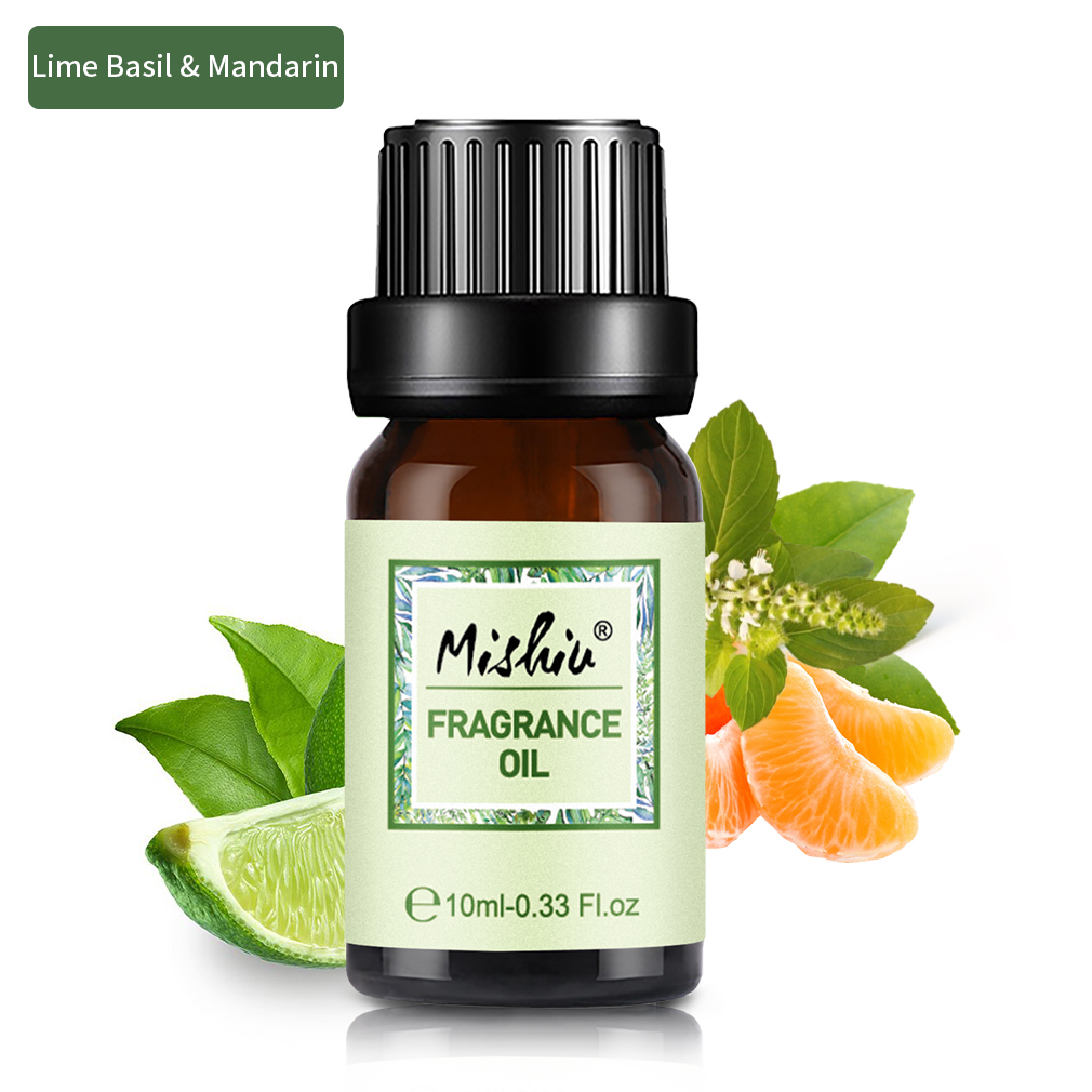 Mishiu Lime Basil Mandarin Pure Essential Oils For Aromatherapy Fragrance Diffuser Lemon Flowerbomb Chance Oud Immortel Oil 10ml Aliexpress