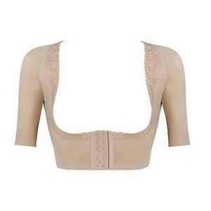 Image 5 - Burvogue Shaper Push Up Short Sleeve Sexy Crop Tops Slimming Control Arm Shapewear One piece Shaper Fashion Women Body Shaper