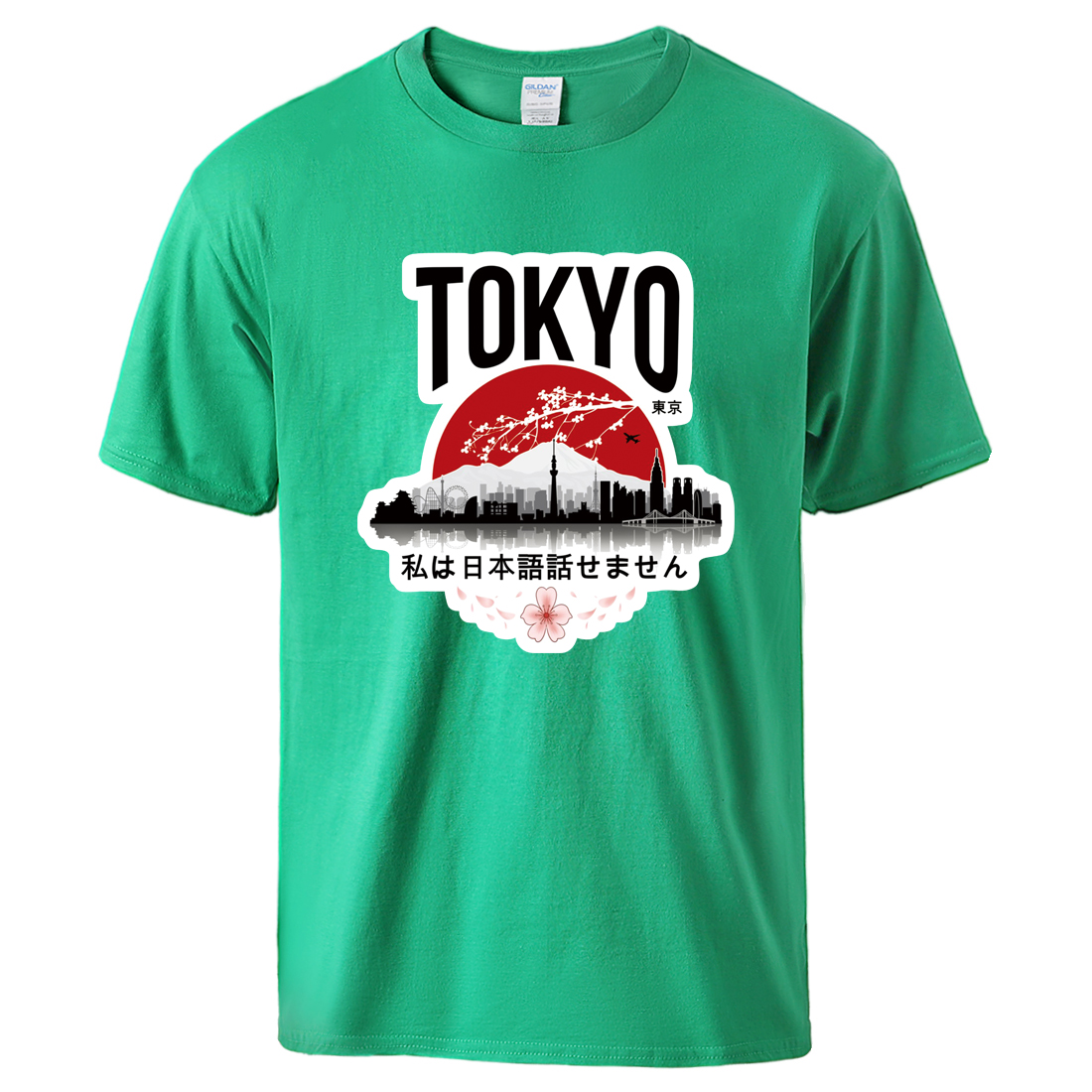 Tokyo I Don't Speak Japanese Print T Shirts Man Causal Short Sleeve Sportswear Tee 2020 Summer Man Brand Loose Cotton T Shirts