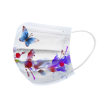 10PCS Adult Butterfly Desechable Protection Three Layer Breathable Face Mask Mondkapjes Wasbaar Маски Для Лица Защитные маска#K
