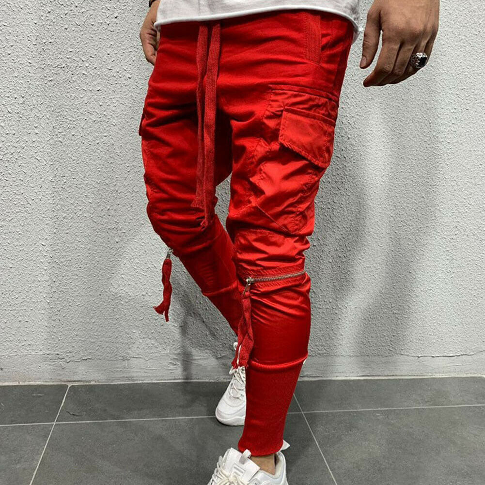 New Men's Autumn Winter Outdoor Elastic Tracksuit Sport Trousers Gym Jogging Joggers Casual Workout Sweat Pants